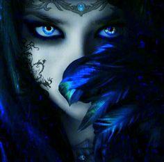 A dark fantasy fairy Fantasy Eyes, 3d Fantasy, Fantasy World, Fantasy Witch, Fantasy Landscape, Fantasy Kunst, Montage Photo, Dark Beauty, Gods And Goddesses
