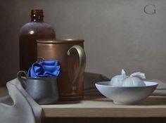 David Gray (American, 1970) – oil painting – still life.