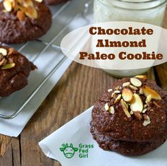 These chewy Keto Chocolate Almond Cookie recipe is perfect holiday treat for paleo, low carb, gluten free, grain free, sugar free and dairy free dieters. Best Chocolate Cookie Recipe, Paleo Cookie Recipe, Easy Biscuit Recipe, Paleo Chocolate Chips, Paleo Cookies, Healthy Cookie Recipes, Paleo Sweets, Paleo Dessert, Best Dessert Recipes