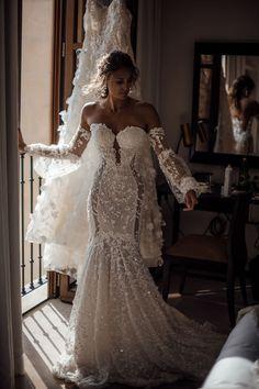 Wedding Dress Trends, Dream Wedding Dresses, Boho Wedding Dress, Designer Wedding Dresses, Bridal Dresses, Wedding Gowns, Lace Wedding, Wedding Ideas, Yellow Wedding