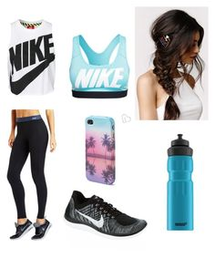 """Untitled #153"" by music-228 ❤ liked on Polyvore featuring Lorna Jane, NIKE, With Love From CA, SIGG and Aéropostale"