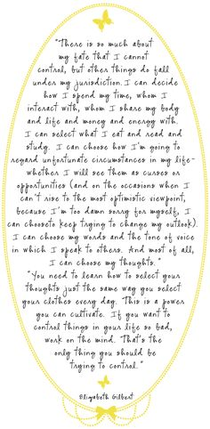 Elizabeth Gilbert, author of Eat Pray Love....one of my all time faves.       SB