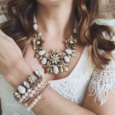 Pretties for your Sunday Best... I'm thinking Easter! Shop the look at http://www.chloeandisabel.com/boutique/baublesandpearls