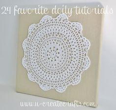 24 Favorite Doily Tutorials! #diy #doily