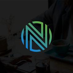 Professional letter N logo. Typography Logo, Graphic Design Typography, Lettering Design, Letter M Logo, Letter N, N Logo Design, Fluent Design, Classy Logos, Logo Tv