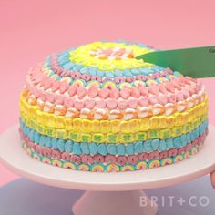 This DIY Lucky Charms Cake is magically delicious — and perfect for St. Patrick's Day! Just look at all those marshmallows.
