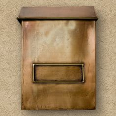 Brexton Vertical Wall Mount Copper Mailbox - Standard - Antique Copper by Maycreek. $148.95. Spice up your home's exterior with this vertical copper mailbox. It features a simple rustic design, as well as a premium Antique Copper finish that adds to its beauty. Handcrafted from 24 gauge copper. Available in two sizes: Standard mailbox measures overall: 10-1/2 L x 4-1/2 W (front to back) x 14-1/2 H (± 1/2 ). 7-1/2 center to center. Oversized mailbox measures overall: 16-3/4 L x ...