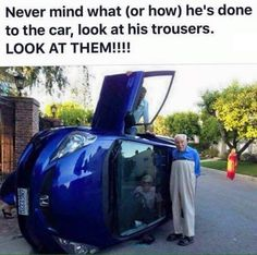 Can't figure out what is worse. The car accident or his pants? - 9GAG