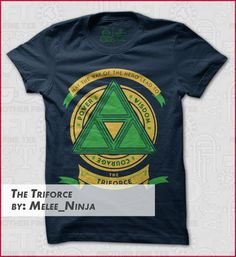 the triforce t-shirts Designed by Melee Ninja Geek Shirts, Geek Games, Legend Of Zelda, Goddesses, Ninja, Fashion News, Nerdy, Video Game, What To Wear