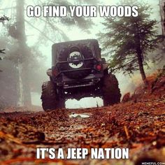Jeep Wrangler - kind of meditation just to ride and have fun . Cj Jeep, Jeep Wrangler Tj, Jeep Cars, Jeep Wrangler Unlimited, Jeep Truck, Hummer, Jeep Quotes, Road Quotes, Jimny Suzuki