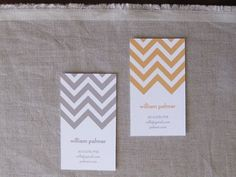 Chevron business cards