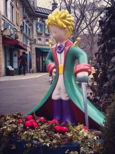 Little Prince Sculpture at the Little Prince Museum at Hakone in Japan.