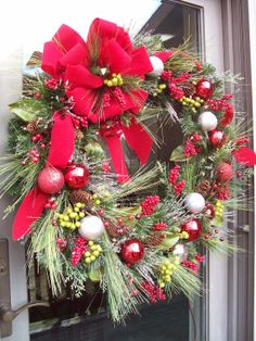 CANTERBURY - Pre-Lit  XXL Vintage Christmas Wreath by DecorClassicFlorals, $179.95