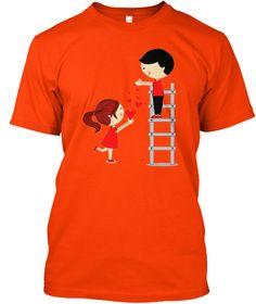 Best Valentine's Offer Tee! Orange T-Shirt Front