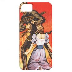 Krampus Punishing Woman iPhone 5 Cases