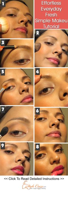 Effortless Everyday Fresh Simple Makeup Tutorial – Step By Step With Pictures