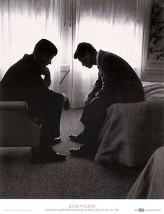 """John F. Kennedy and Robert F. Kennedy"" - Iconic Photograph posters and prints available at Barewalls.com"