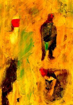 """7-Toulouse Lautrec x Cris Acqua.  Pintura Mixta Collage. 30x21 cm.  HOMENAJE :""""Mi amor por este genial pintor...dueño de los trazos más libres y geniales de la Belle epoque, me han influido totalmente en mi camino por el arte..."""" (Cris Acqua)  http://www.crisacqua.com"""