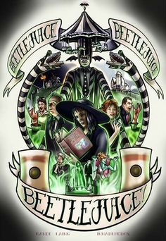 cartoons collage Beetlejuice by Randi Laing Beetlejuice Tattoo, Tim Burton Kunst, Tim Burton Characters, Halloween Art, Beetlejuice Halloween, Halloween Images, Horror Art, Hallows Eve, Nightmare Before Christmas