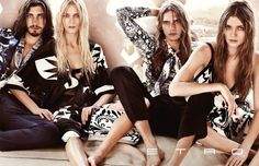 Carmen Kass, Ella Kandyba & Ophelie Rupp for Etro Spring 2012 Campaign by Mario Testino