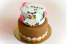 Tårta cake uggla uggletårta owlcake owl birthday födelsedag våningstårta   ⭐sockerlinn.se⭐