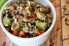 This Vegan and Oil-Free Wild Rice & Lentil Salad is the perfect side dish or easy lunch. It also makes a great meal prep option since it's portable. Vegan Recipes Videos, Vegan Lunch Recipes, Salad Recipes For Dinner, Healthy Salad Recipes, Clean Eating Recipes, Healthy Snacks, Cooking Recipes, Vegan Lunches, Veggie Recipes
