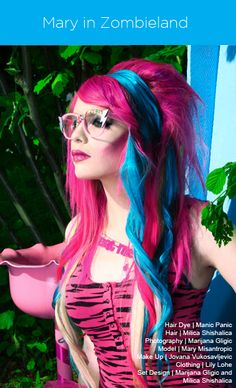 Best Hair Color Blonde With Pink Manic Panic 57 Ideas Blonde With Pink, Blonde Color, Hair Dye Colors, Cool Hair Color, Pink Hair, Blue Hair, Hair Heaven, Fantasy Hair, Hair Color Balayage