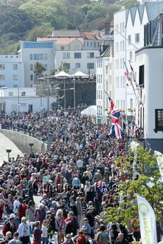 Liberation Day celebration on Guernsey, May 9th.  The Channel Islands were occupied by Nazi Germany for much of World War II, from 30 June 1940 until the liberation on 9 May 1945. The Islands were the only part of the British Isles to be invaded and occupied by German forces during the war.