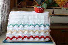 Chevron Stripes Sewing Machine Cover Free Crochet Pattern