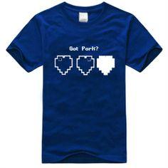 Minecraft Unisex Short Sleeve Round Neck T-shirt - Blue Products- - TopBuy.com.au