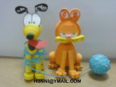 Quilling Garfield - by: Henni Xia - www.pinterest.com/h3nni/my-creation-quilling/