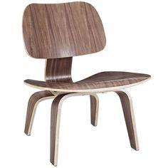 Fathom Wood Lounge Chair In Walnut - EEI-510-WAL Free Shipping