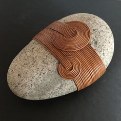I use traditional Japanese basket making techniques to transform rocks into art – art that invites quiet contemplation, peace and serenity. These Zen Stones are pure, I do not use glue. The stone comes in a lovely gift box Pebble Stone, Pebble Art, Stone Art, Stone Crafts, Rock Crafts, Arts And Crafts, Zen Rock, Rock Art, Art Pierre