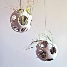 {Air Pod Plant Holder White} Nicholas Newcomb - these are so perfect for showing off air plants!