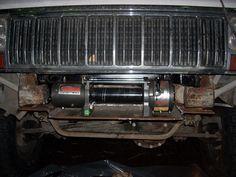 [XJ] Winch behind original bumper - JeepForum.com