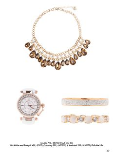 Klokke, smykke og armbånd (sølv og gull), Tilbehør som passer perfekt. Nytt fra vår og sommerkolleksjonen. Ta gjerne kontakt om du ønsker noe mob. 90918076