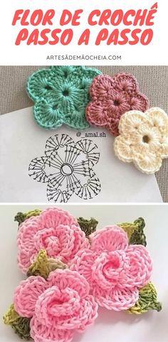 Cute Crochet, Crochet Flowers, Crochet Earrings, Diy And Crafts, Manicure, Knitting, Handmade, Pasta, Crochet Stitches For Beginners
