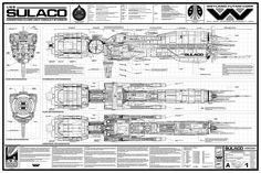 ALIENS. USS Sulaco blueprints.