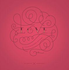 Love by Boglárka Nádi #love #lettering #ornamental