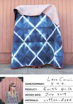 tie dyed Earth Quilt by Lena Corwin