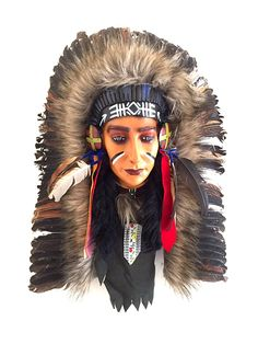 Native American Chief Feather Wall Hanging Southwest Decor -LG, OMA BRAND > Can't believe it's available, see it now : Home Decor Sculptures