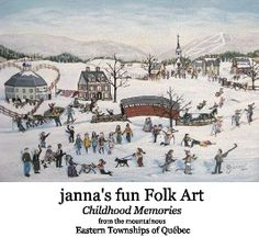janna's fun Folk Art Childhood Memories from the mountainous Eastern Townships of Québec | Photo book preview | Blurb Books  Ideas for Layout, and interested webpage and book designing software.
