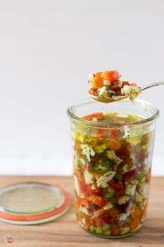 This recipe for Italian pickled vegetable giardiniera will perk up your cheese board and add zing to your favorite sandwich. Definitely a farmers market favorite! Homemade Refrigerator Pickles, Homemade Pickles, Pickles Recipe, Antipasto, Quick Pickled Vegetables, Italian Pickled Vegetables Recipe, Pickling Vegetables, Marinated Vegetables, Spicy Carrots