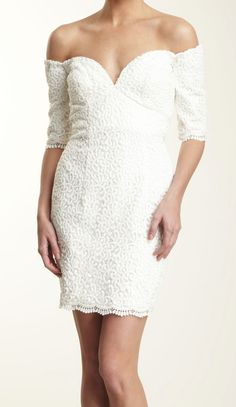 off the shoulder lace dress / Vicky Tiel - rehearsal dinner dress ?