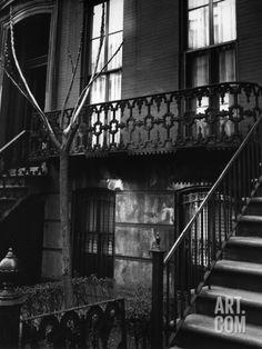 Brownstone in the Fifties, Manhattan 1947 Photographic Print by Brett Weston at Art.com