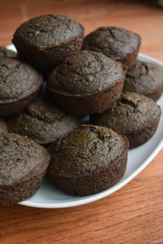Whole Wheat Chocolate Kale Banana Muffins