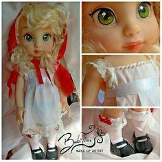 #disney #ooak #repaint #babitime #custom #doll #animator #disneyanimator #cappuccettorosso #babybonniehood