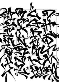 Graffiti Letters: 61 graffiti artists share their bomb science style - Graffiti Text, Wie Zeichnet Man Graffiti, Graffiti Lettering Alphabet, Chicano Lettering, Graffiti Writing, Graffiti Tattoo, Tattoo Lettering Fonts, Graffiti Tagging, Street Art Graffiti
