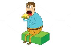 eating sandwich by zetwe shop on Creative Market