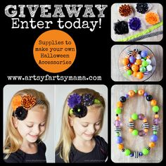 Enter to win all the supplies to make your own headbands, necklace and bracelets.